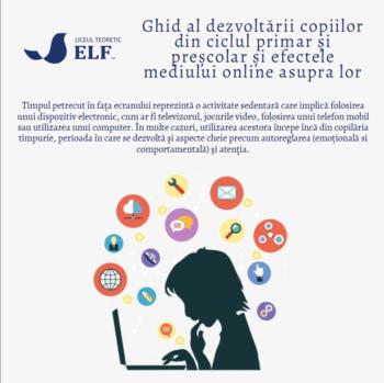 Ghid al dezvoltării copiilor si efectele mediului online